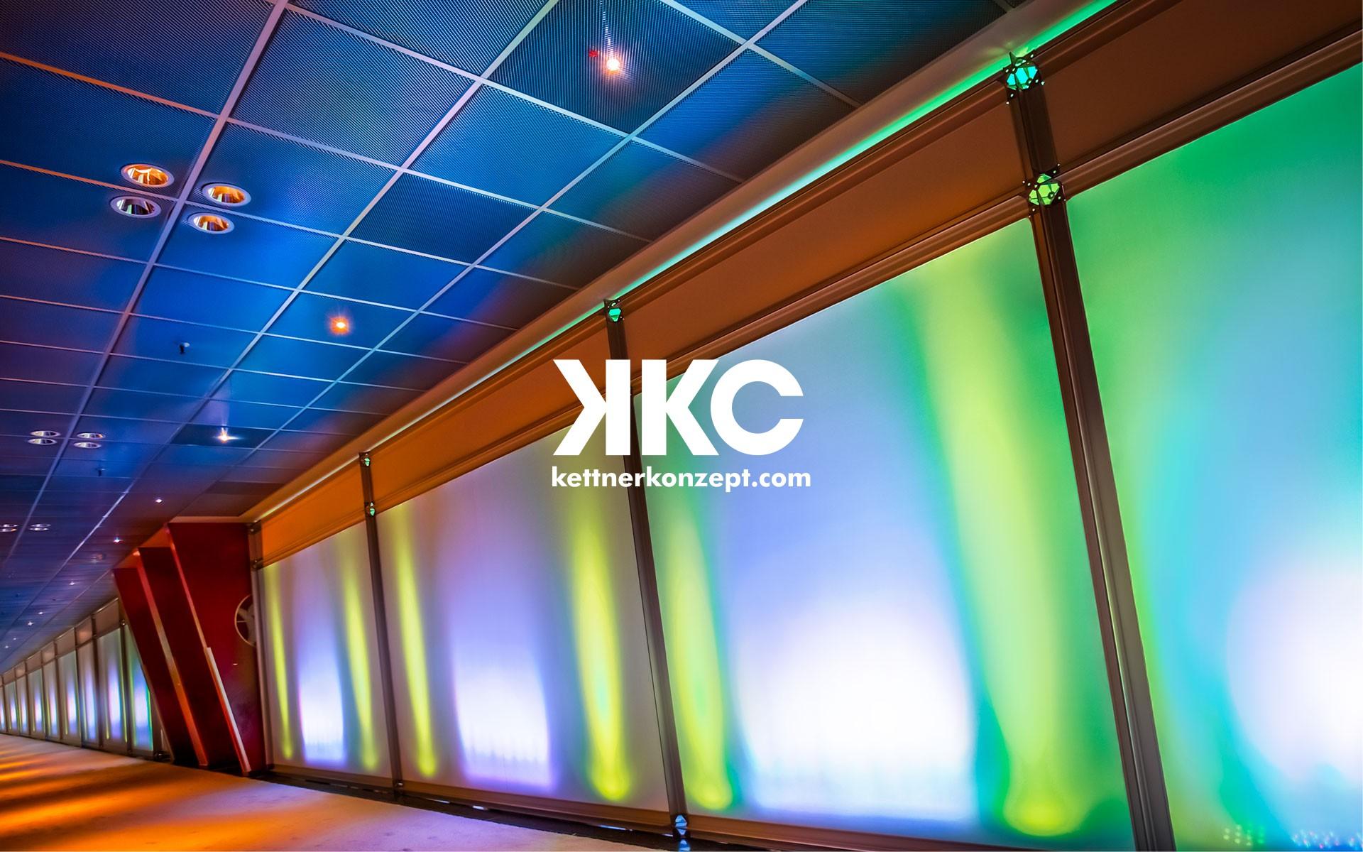 O-ZEN Portfolio Kettner Konzept Innendesign Veranstaltung LED Beleuchtete Wand