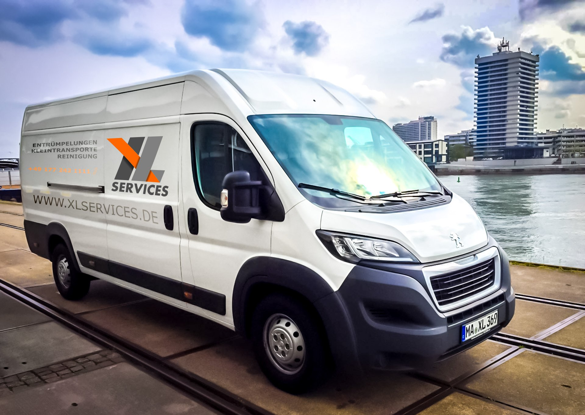 O-ZEN Portfolio XL Services Mannheim Peugeot Boxer Beschriftung