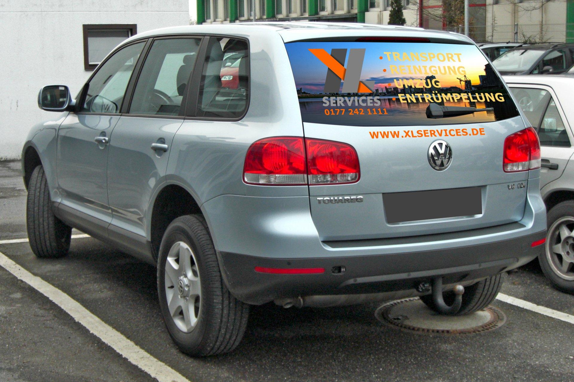 O-ZEN Portfolio XL Services Mannheim Volkswagen Touareg mit Beschriftung