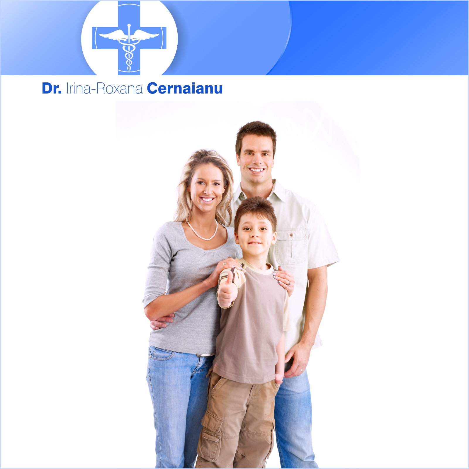 O-ZEN Portfolio Doktor Cernaianu Junge Familie Muter, Vater und Sohn