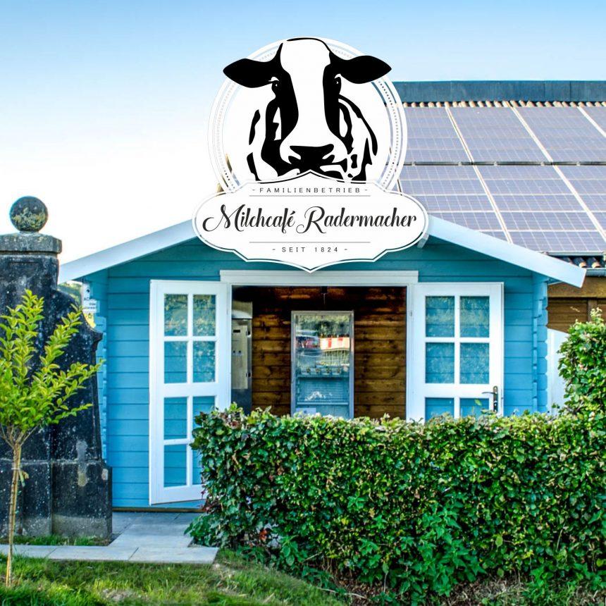 O-ZEN Portfolio Milchcafe Radermacher Milchautomat mit Logo
