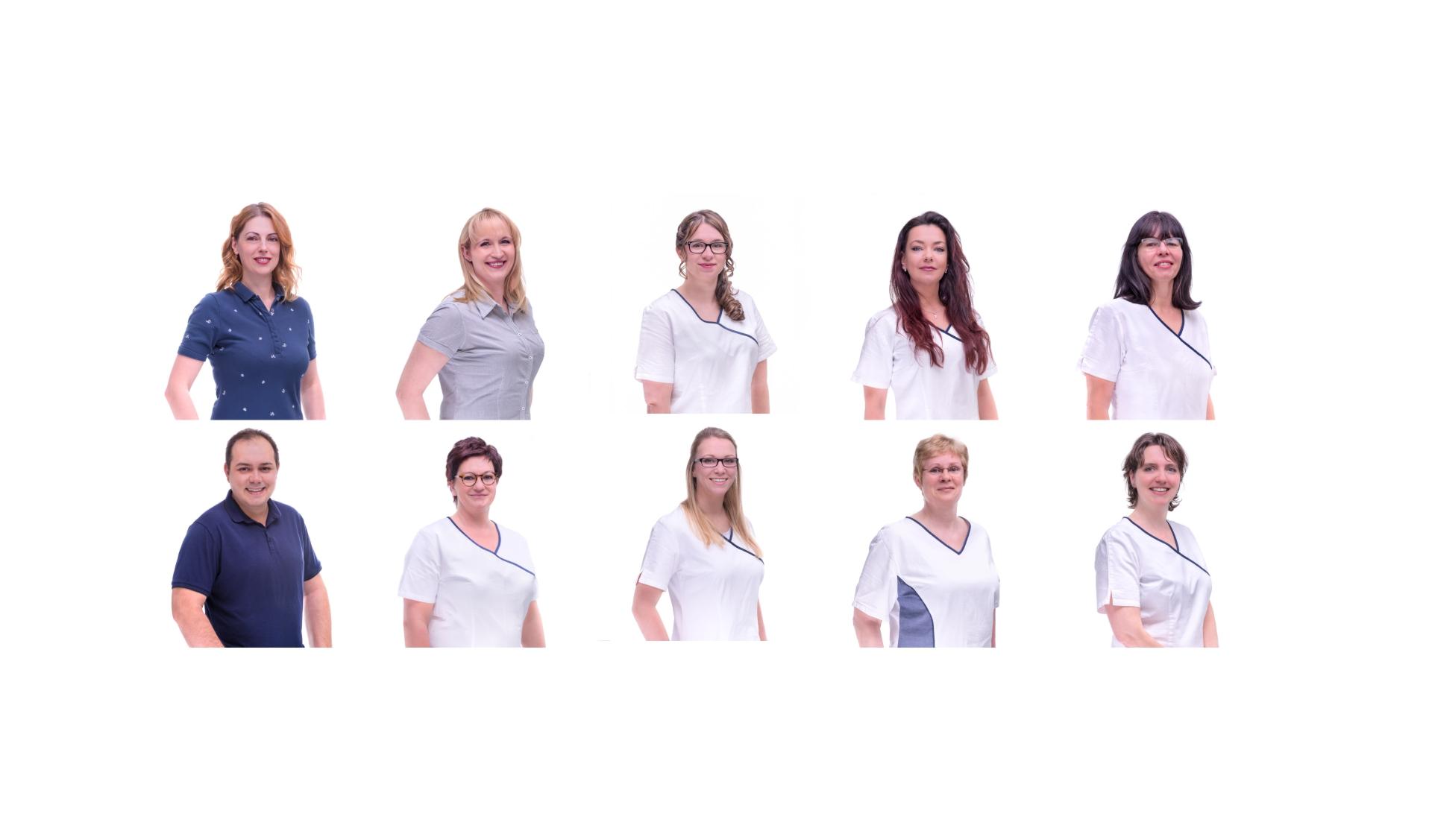 O-ZEN Portfolio Zahnarzt Schwalmtal Lobberich Portrait Fotos der Mitarbeiter auf weißem Hintergrund