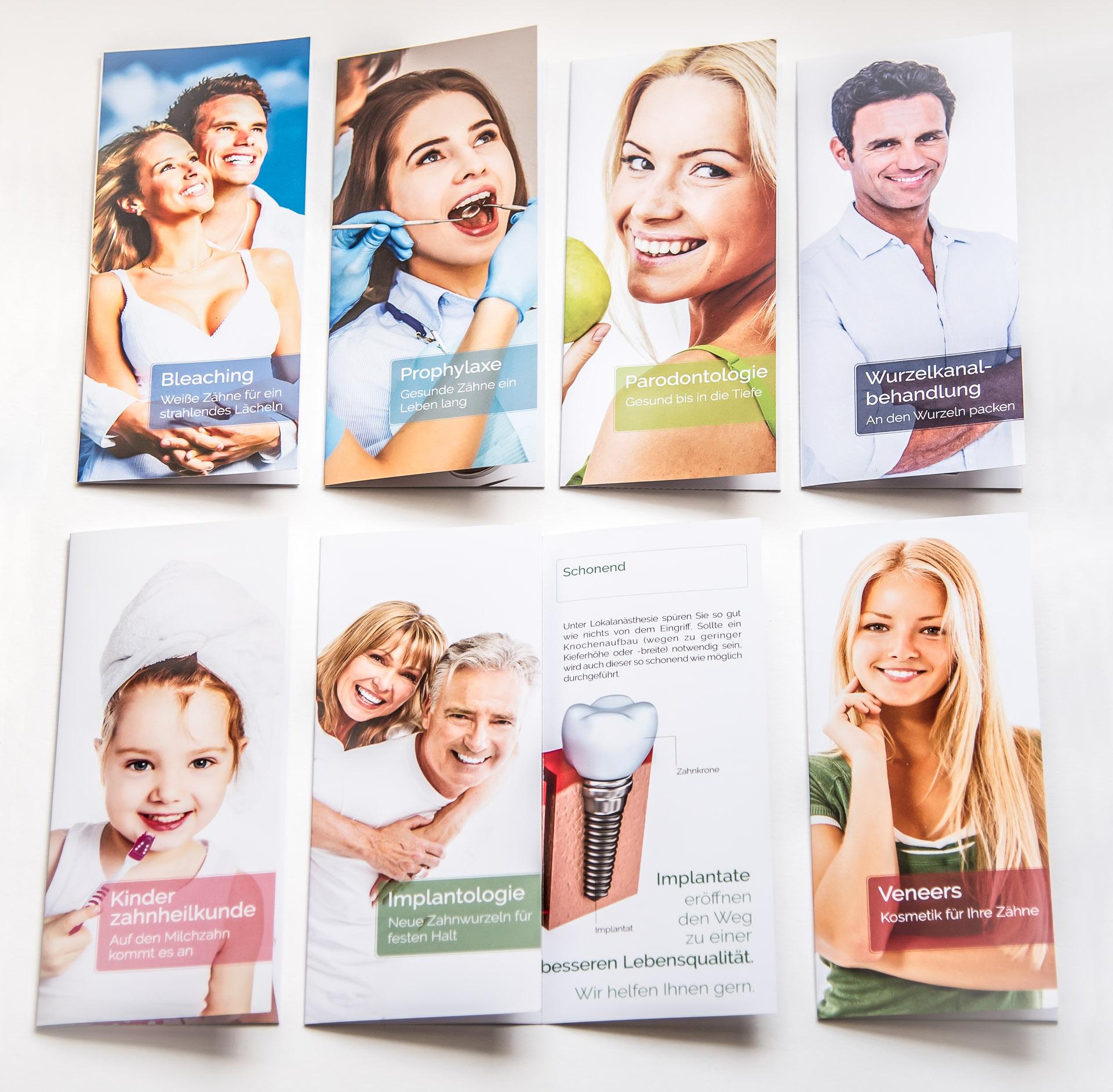 O-ZEN Portfolio Zahnarztpraxis Roetgen Leistungen der Zahnarztpraxis als Flyer